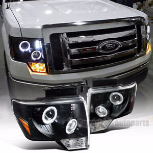 2009-2014 Ford F150 Halo LED Projector Headlights with extra 10%