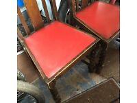 Old barley twist chairs