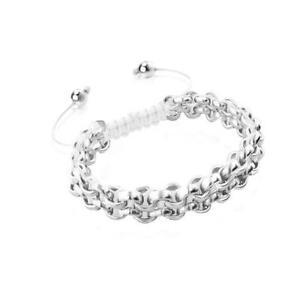 50% OFF All Jewellery - Silver Kismet Links | White | MiniBracelet