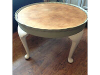 stripped wood shabby chic occasional table