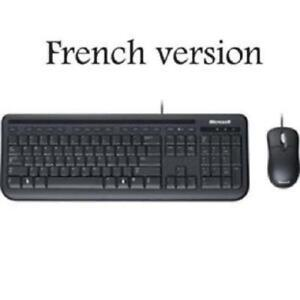 Microsoft Wired Desktop 400 Keyboard & Mouse - French - USB - Bl