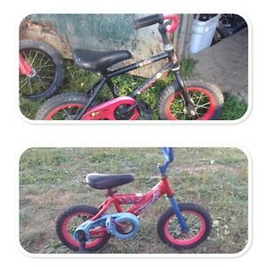 "12 1/2"" girls and boys bikes"