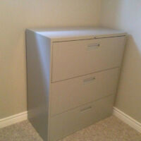 3-Drawer Lateral Filing Cabinet with Lock