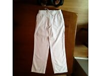 Next ladies white linen trouser size 8r