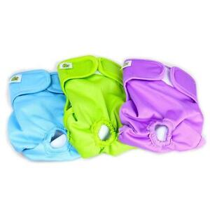 Small Washable Dog Diapers for Male and Female Dogs (3-PACK)