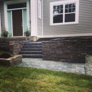 RETAINING WALLS AND WALKWAYS