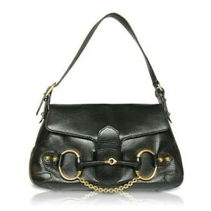GUCCI Horsebit Saddle Handbag