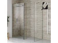 800x800mm - 8mm - Premium EasyClean Wetroom Panel, Return & Side Panel (shower enclosure)