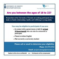 18-22 Year Olds Needed for Research Study