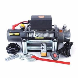 NEW 12000 LBS HEAVY DUTY VEHICLE WINCH WITH REMOTE