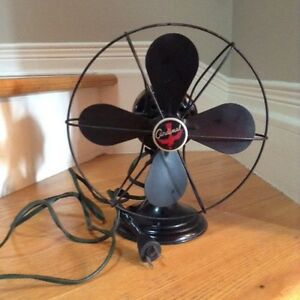 "Vintage Cardinal 9"" electric metal fan"