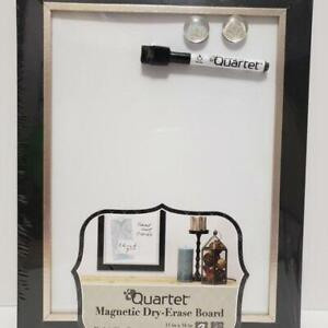 NEW Elegant Quartet Dry Erase Board Home Organization, Black / Espresso