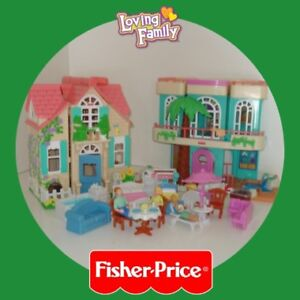 """Two """"Loving Family Sweet Streets Homes"""" by Fisher Price ✶"""