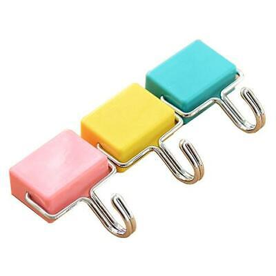 All-purpose Magnetic Hooks Pastel Pink Yellow Blue 3-pack
