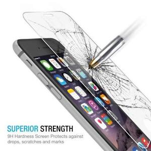 New Premium Tempered Glass Screen Protector for iPhone 6 and iPhone 6s.