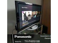 "Panasonic TX-P42G15 INTERNET TV 42"" Full HD 1080p Plasma screen"