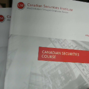 Canadian Securities Course (CSC) Books Volumes 1 & 2!
