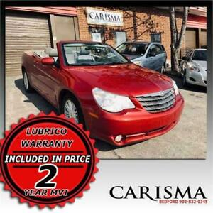 Four Friends Can Ride in Style~ Inferno Red Chrysler Convertible