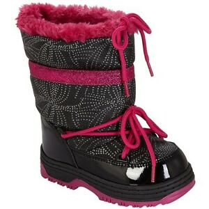 New ATHLETECH Black Pink Toddler Girls Winter Boots - 9