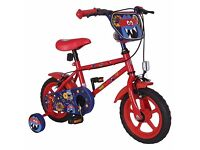 "Monster Hero Boys 12"" Bike Red New Boxed £35 ONO"
