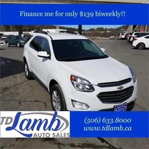 2016 Chevrolet Equinox Crossover $139 bi-weekly w/Cash Back