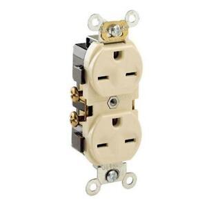 Leviton 5028-I 15 Amp, 250 Volt, Narrow Body Duplex Receptacle,