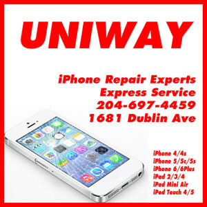 UNIWAY WINNIPEG iPhone iPad Screen Repair Starting From $40