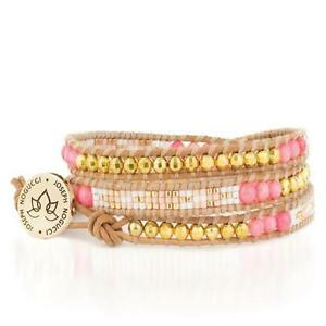 50% OFF All Jewellery - Coral Bliss Stone Lotus WrapBracelet
