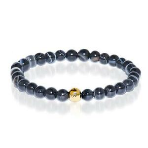 50% OFF All Jewellery - Courage | Gold Essence Black Line Agate Bracelet