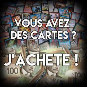 J'achete carte Mtg Magic the gathering I buy Mtg magic cards
