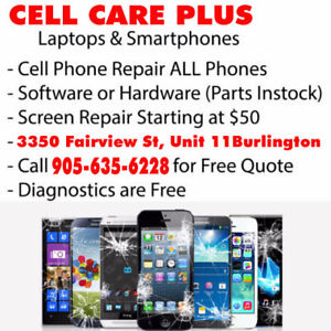We Repair ALL Cell Phones, iPads, Tablets, Laptops and Desktops