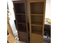 tall display / bookcase unit new in walnut or oak colour new viewing welcome