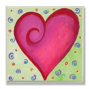 Stupell Industries The Kids Room Square Wall Decor, Red Heart wi