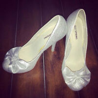 Sparkly Silver, size 8 Spring shoes