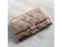 NV leather purse and mini clutch in gold