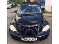 2003 Chrysler Pt Cruiser, starts and drives well, MOT until April 2017, leather interior, car locate