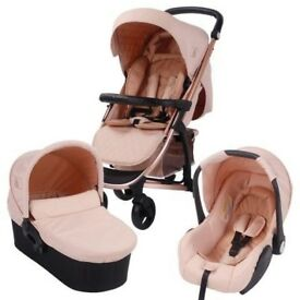 My Babiie Rose gold and Blush MB200+ Travel System