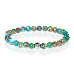 50% OFF All Jewellery - Calming | Silver Essence New Green Agate Bracelet