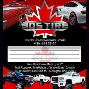 Rims, tires, complete packages.
