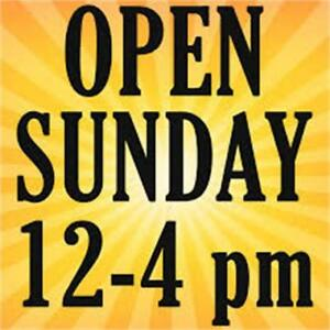OPEN SUNDAY BEFORE XMAX