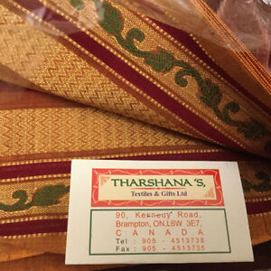 Fine Silk Saree fabric Cambridge Kitchener Area image 1