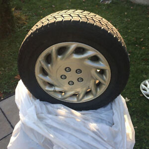 Selling winter tire with rims