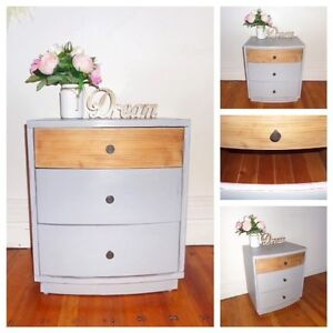 Solid wood bedside table Cremorne Point North Sydney Area Preview