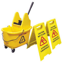 Mop Bucket and Wet Floor Sign Combo On Big Sale !