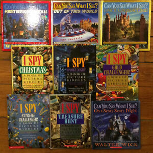 Large Hardcover I SPY books $5 each or all 9 for $30