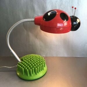 Kids Lady Bug Desk / Nightstand Lamp