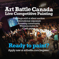 Artists Wanted- ART BATTLE in Fredericton!