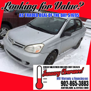 *ACT FAST* As Traded Deal of the Day Just $1,695 Toyota Echo