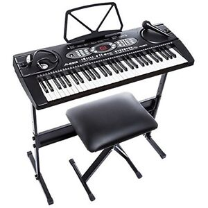 Audio Portable Keyboard Stand Bench Piano Clavier 1054