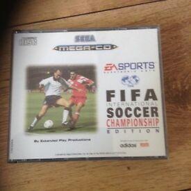 Mega cd game FIFA rare
